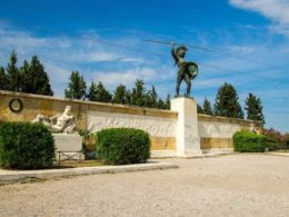 Monument to Leonidas and 300 Spartans in Thermopylae
